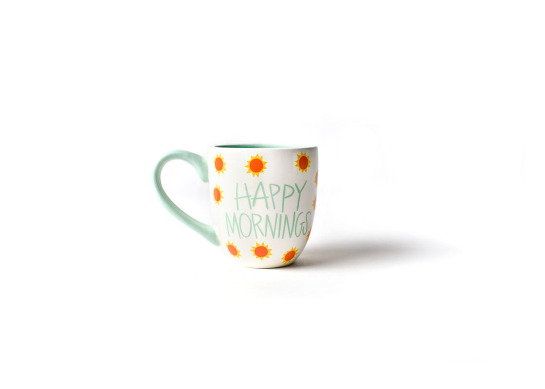 White Happy Mornings Mug