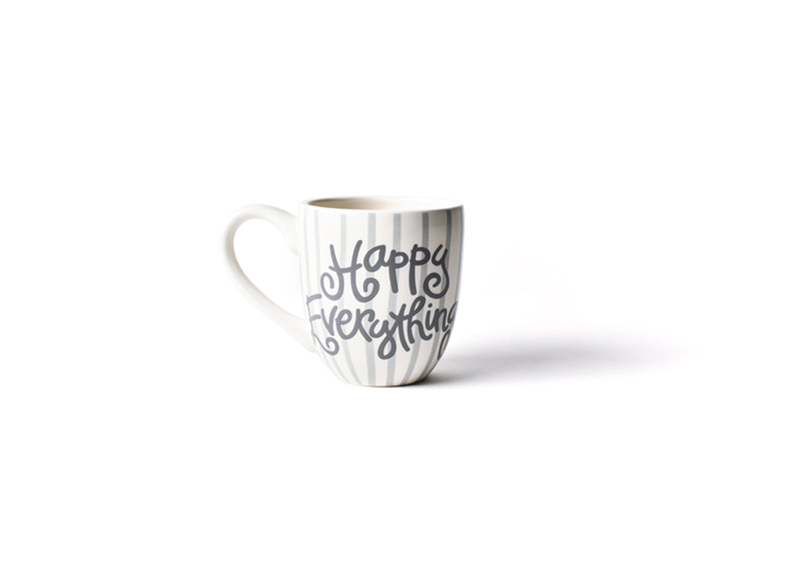 Stone Skinny Stripe Happy Everything! Mug