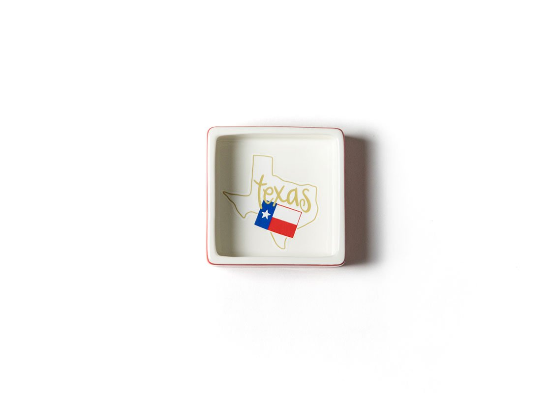 Texas Square Trinket Bowl