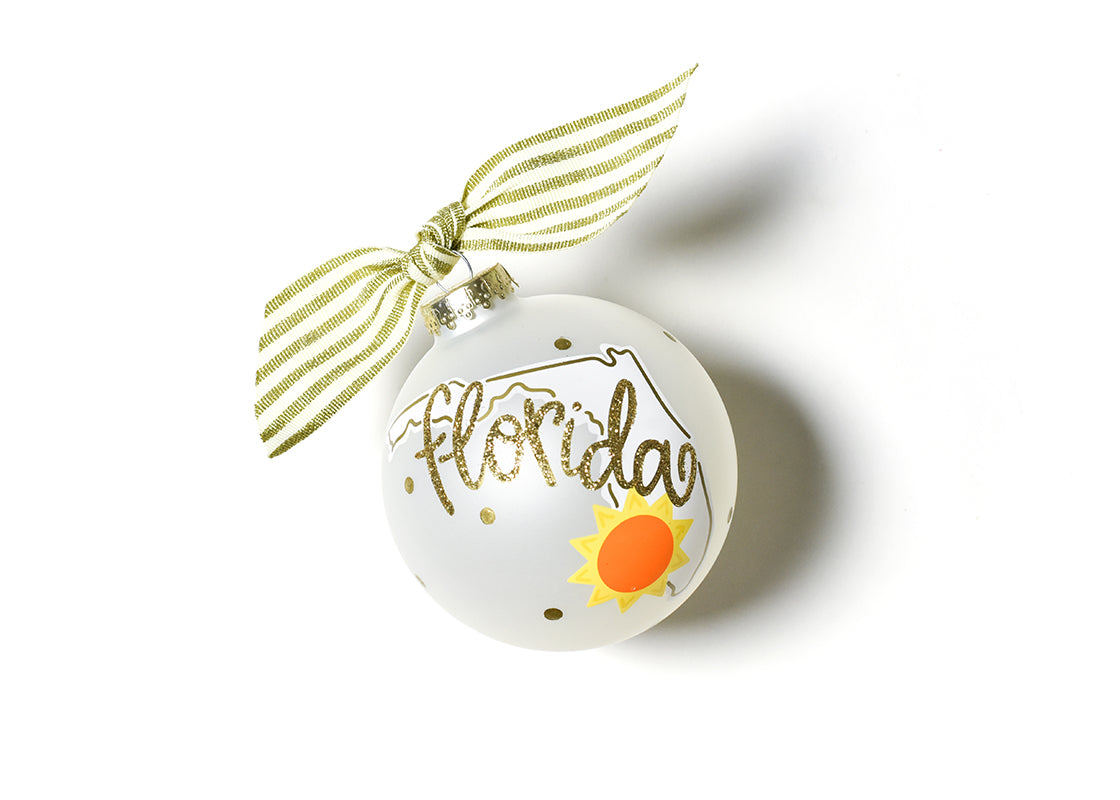 Florida Motif Glass Ornament