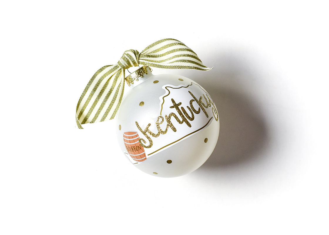 Kentucky Motif Glass Ornament