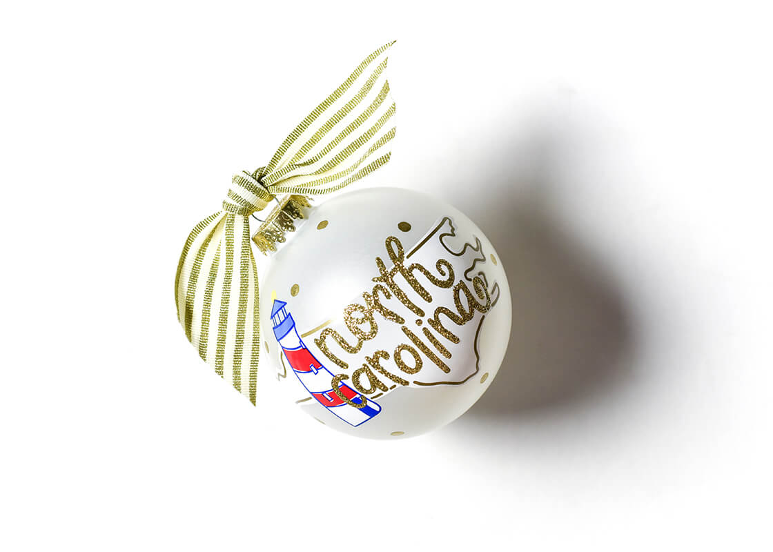 North Carolina Motif Glass Ornament