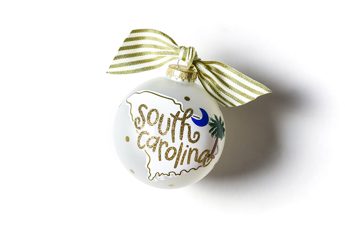 South Carolina Motif Glass Ornament