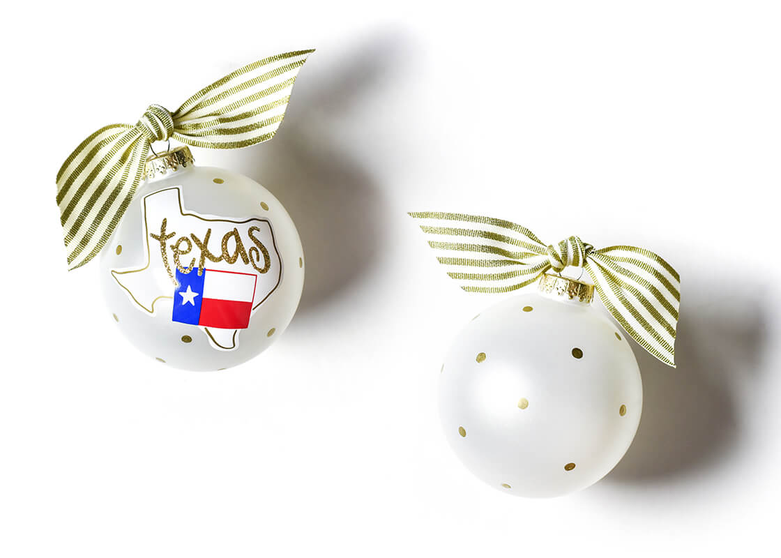 Texas Motif Glass Ornament