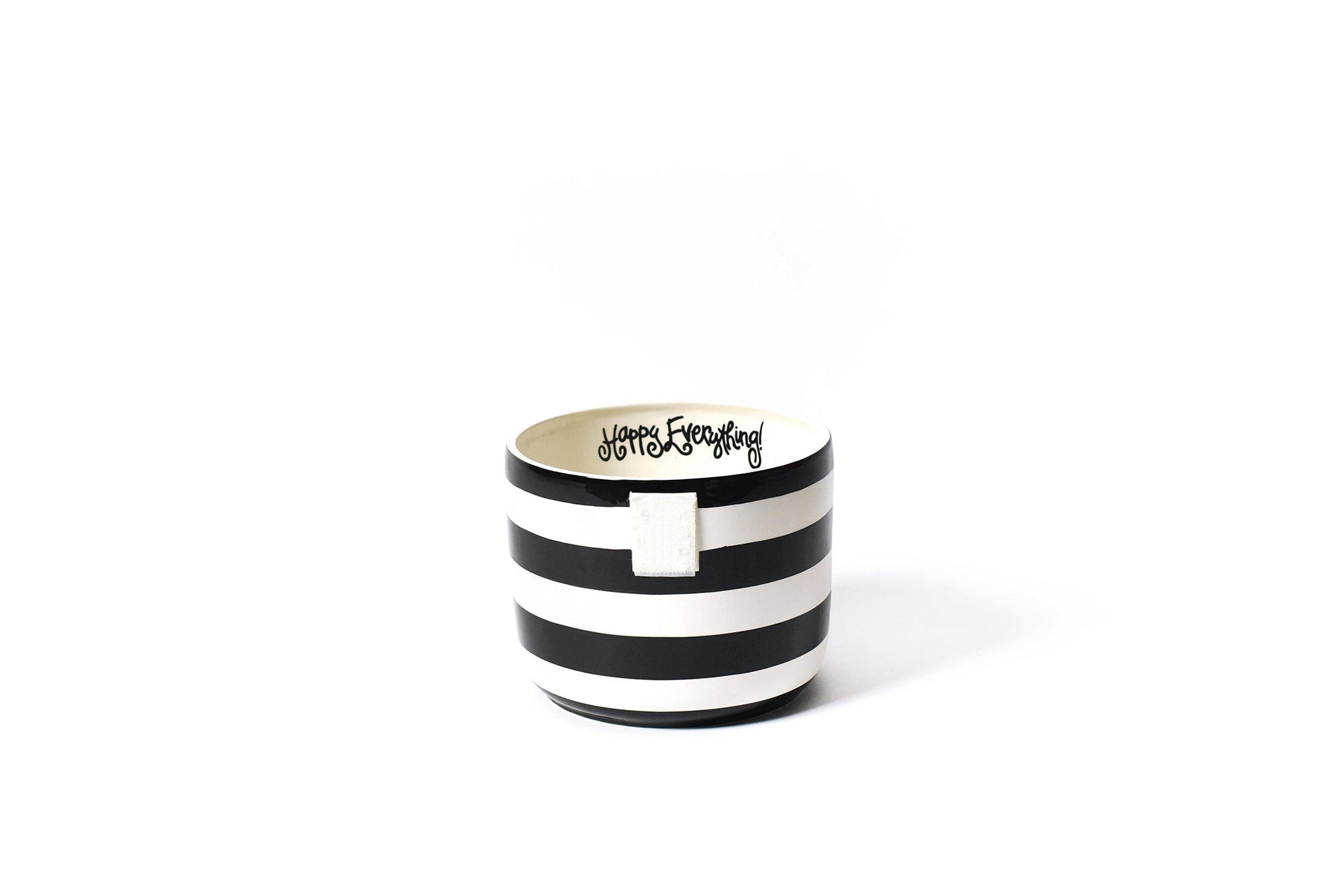 Black Stripe Mini Happy Everything! Bowl