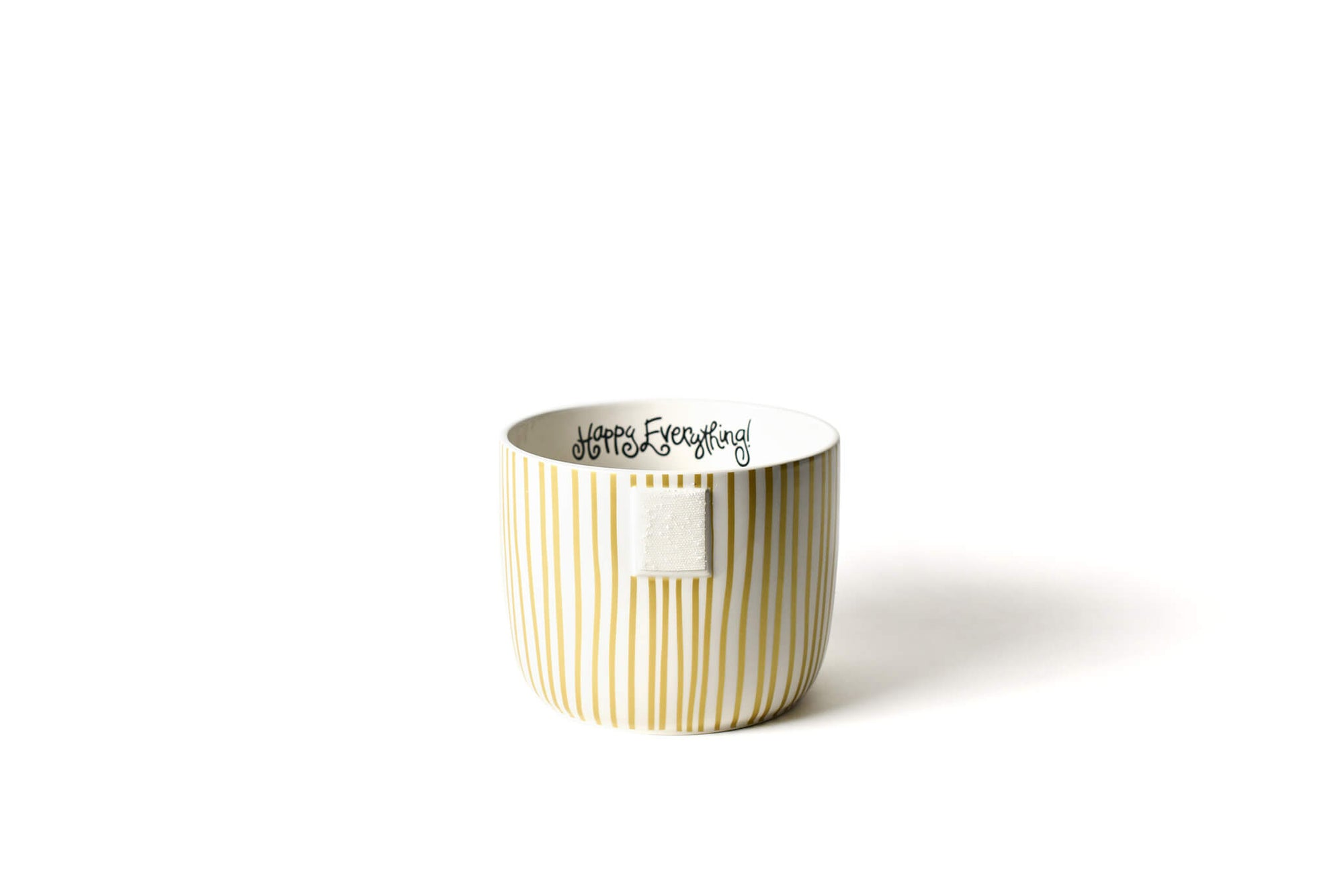 Gold Stripe Mini Happy Everything! Bowl