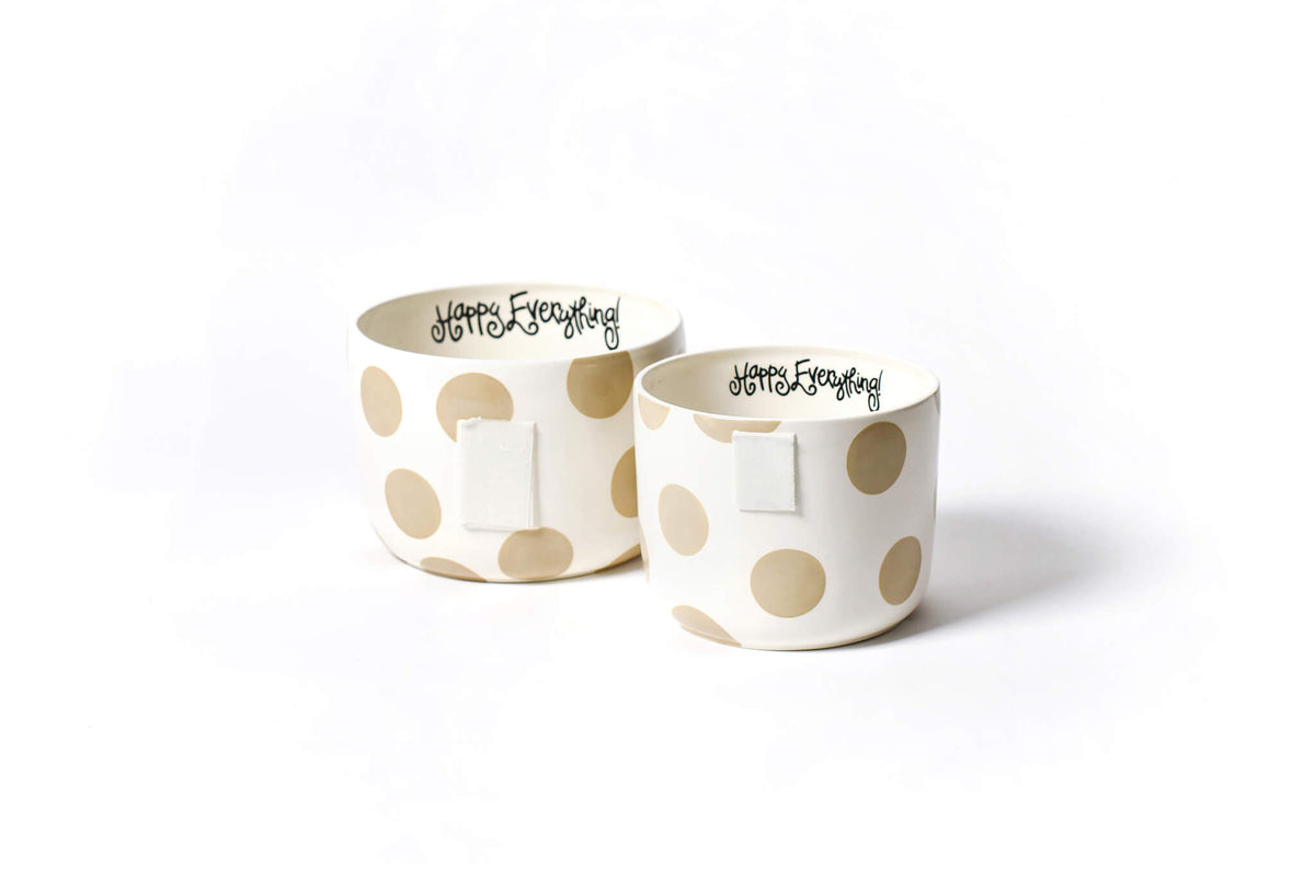 Neutral Dot Mini Happy Everything! Bowl