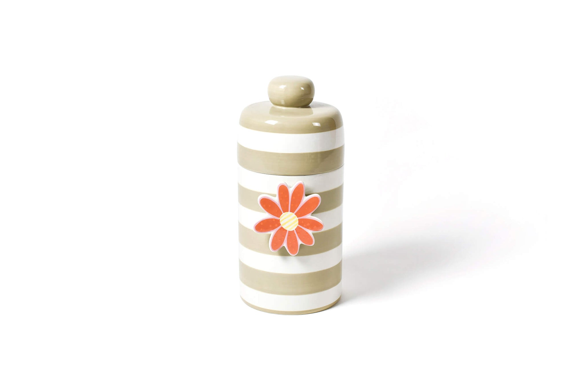 Neutral Stripe Mini Canister