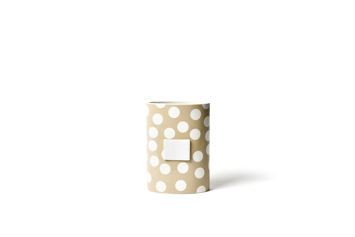 Neutral Dot Mini Oval Vase