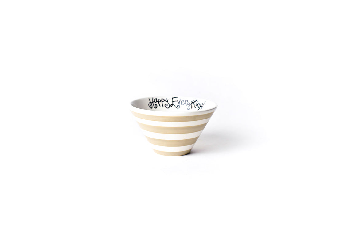 Cobble Stripe Happy Everything! Be Happy Mod Small Bowl