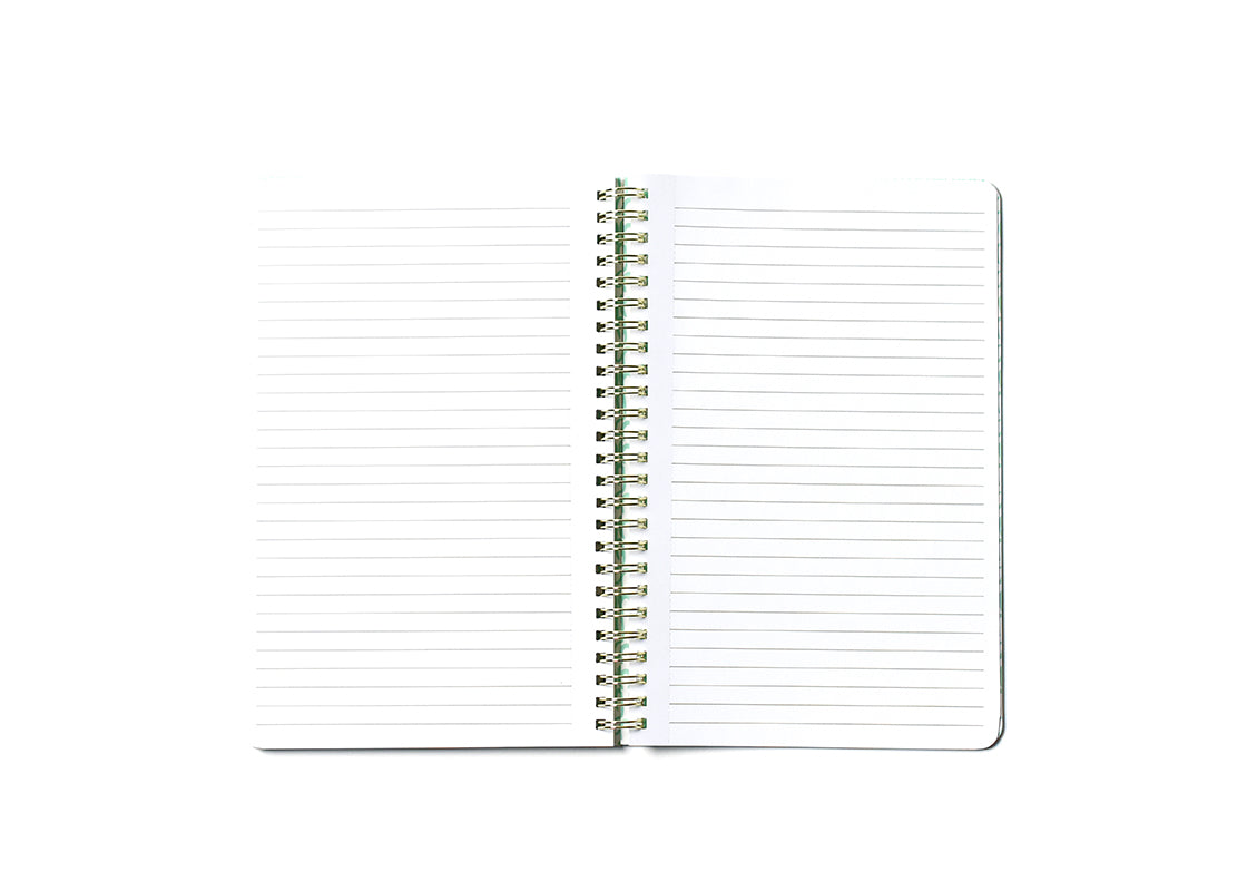 Black Burst Happy Everything! Medium Spiral Notebook