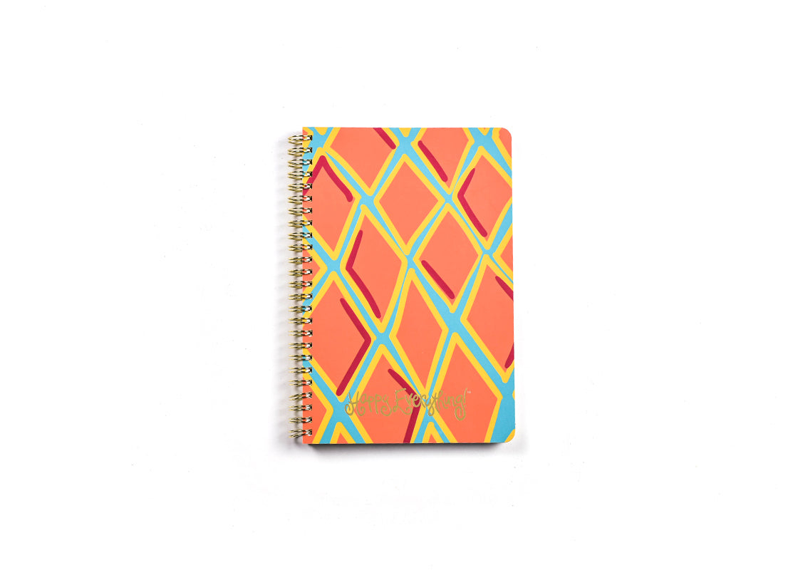 Persimmon Diamonds Happy Everything! Medium Spiral Notebook
