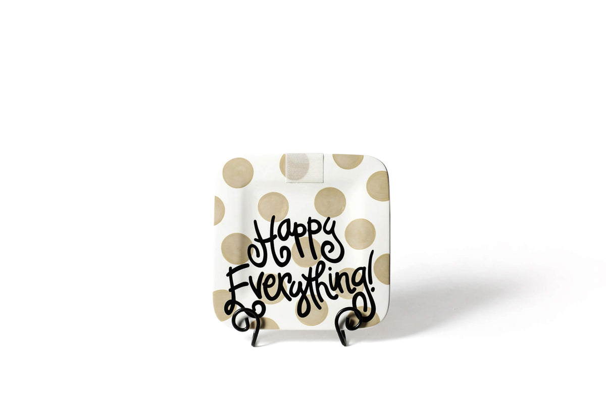 Neutral Dot Mini Happy Everything! Square Platter
