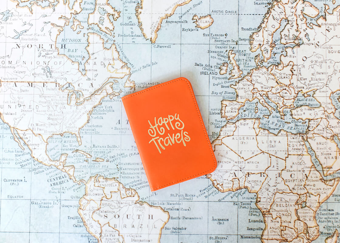 Persimmon Happy Everything! Passport Cover
