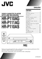 JVC HR-P110AG HR-P110AS HR-P111AG VCR Owners Instruction Manual Reprint