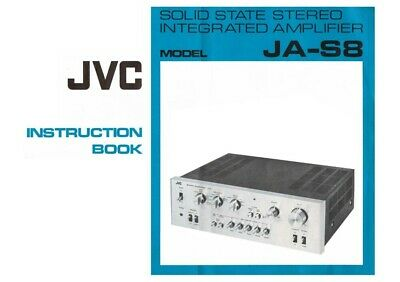 JVC JA-S8 Amplifier Owners Instruction Manual Reprint