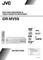 JVC DR-MV5SUS DVD Recorder Owners Instruction Manual Reprint