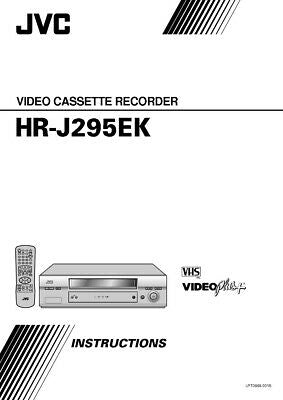 JVC HR-J295EK VCR Owners Instruction Manual Reprint