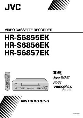 JVC HR-S6855EK HR-S6856EK HR-S6857EK VCR Owners Instruction Manual Reprint