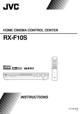 JVC RX-F10SB Home Theater System Owners Instruction Manual Reprint