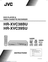 JVC HR-XVC38BU HR-XVC39SU VCR Owners Instruction Manual Reprint