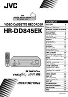 JVC HR-DD845EK VCR Owners Instruction Manual Reprint