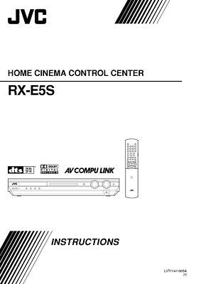 JVC RX-E5SA Home Theater System Owners Instruction Manual Reprint