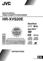 JVC HR-XVS20E VCR Owners Instruction Manual Reprint