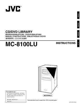 JVC MC-8100LU CD DVD Library Owners Instruction Manual Reprint