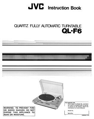 JVC QL-F6 Turntable Owners Instruction Manual Reprint