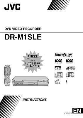JVC DR-M1SLE DVD Recorder Owners Instruction Manual Reprint