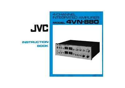 JVC 4VN-880 Amplifier Owners Instruction Manual Reprint
