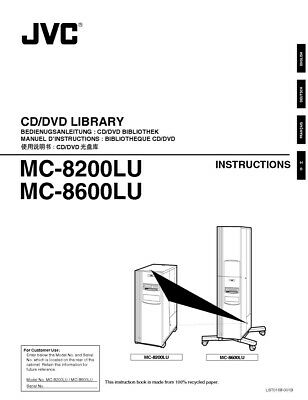 JVC MC-8200LU MC-8600LU CD DVD Library Owners Instruction Manual Reprint