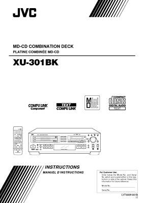 JVC XU-301BK CD Owners Instruction Manual Reprint