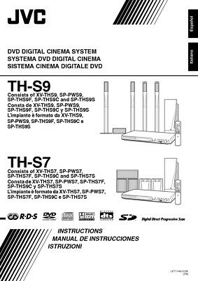 JVC TH-S7 TH-S9 XV-TH27 XV-THS9 System Owners Manual