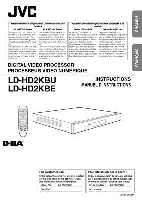 JVC LD-HD2KBU LD-HD2KBE Processor Owners Instruction Manual Reprint