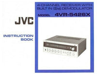 JVC 4VR-5426X Receiver Owners Instruction Manual Reprint