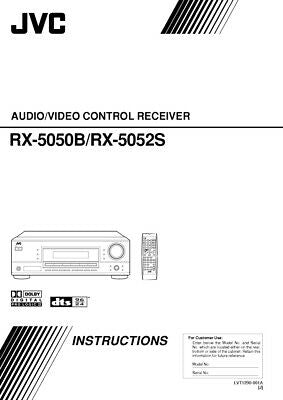JVC RX-5050B RX-5052S Receiver Owners Instruction Manual Reprint