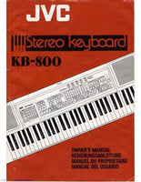 JVC KB-800 Keyboard Owners Instruction Manual Reprint