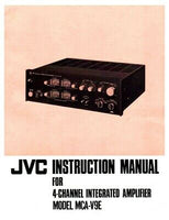 JVC MCA-V9E Amplifier Owners Instruction Manual Reprint