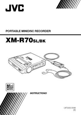 JVC XM-R70 Minidisc Recorder Owners Instruction Manual Reprint