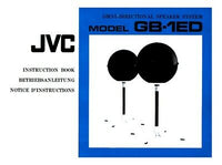 JVC GB-1ED Speaker System Owners Instruction Manual Reprint