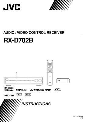JVC RX-D702BUJ Receiver Owners Instruction Manual Reprint