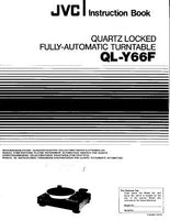 JVC QL-Y66F Turntable Owners Instruction Manual Reprint