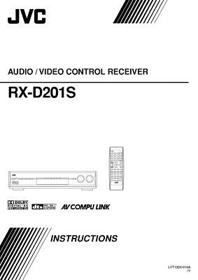 JVC RX-D201S Receiver Owners Instruction Manual Reprint