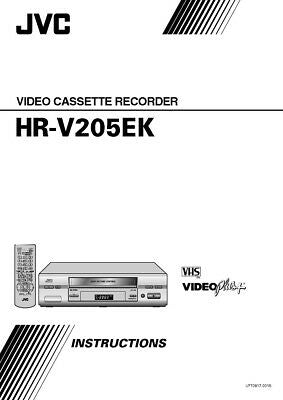 JVC HR-V205EK VCR Owners Instruction Manual Reprint