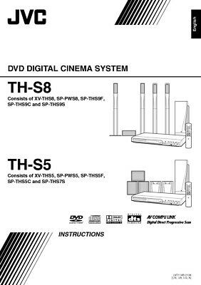 JVC TH-S5 TH-S8 XV-THS5 XV-THS8 System Owners Manual
