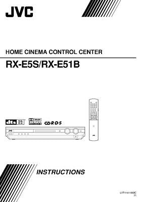 JVC RX-E51BB RX-E5SB Home Theater System Owners Instruction Manual Reprint