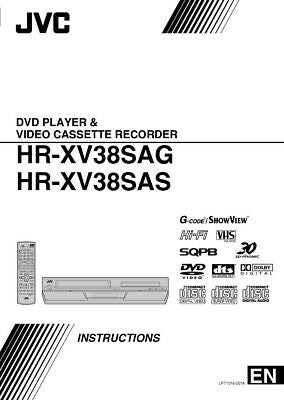 JVC HR-XV38SAG HR-XV38SAS VCR Owners Instruction Manual Reprint