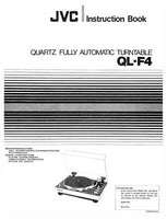 JVC QL-F4 Turntable Owners Instruction Manual Reprint